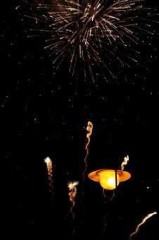 Free Firework Over Lantern Royalty Free Stock Images - 26443019