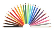 Free Color Pencils Royalty Free Stock Photo - 26445985