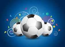 Free Abstract Soccer Poster Stock Photo - 26446430