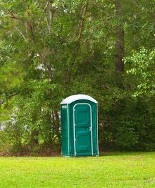 Free Portable Toilet Royalty Free Stock Photography - 26446957