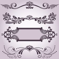 Free Collection Of Decorative Elements 3 Stock Images - 26449184