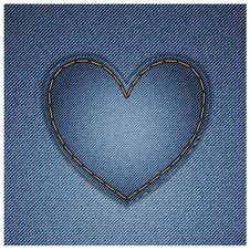 Free Denim Heart Stock Image - 26449221