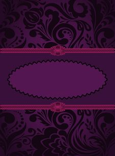 Vertical Purple Card Royalty Free Stock Photos