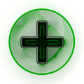 Free Pharmacy Green Cross Sign Royalty Free Stock Images - 26459349