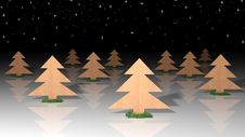 Free 3d Christmas Card Royalty Free Stock Photo - 26452035