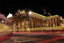 Free Vienna Opera House At Night In Vienna, Austria Stock Images - 26452404