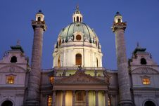 Free Karlskirche At Dusk In Vienna, Austria Stock Photos - 26452443