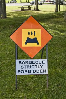 Free Barbecue Strictly Forbidden Stock Image - 26454391