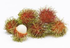 Free Rambutans  On Whit Royalty Free Stock Image - 26455126