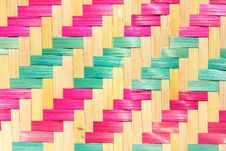 Free Bamboo Mat Pattern Royalty Free Stock Photos - 26455728