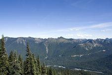 Free Mt. Rainier At Sunrise Point Stock Photo - 26457570