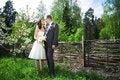 Free Happy Bride And Groom On Wedding Walk Stock Photo - 26466600