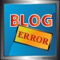 Free Blog Error Icon Royalty Free Stock Photography - 26466857