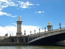 Free Bridge Alexander III Stock Photo - 26466680