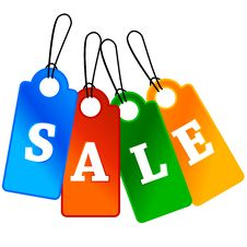 Four Sale Labels Stock Images