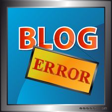 Free Blog Error Icon Royalty Free Stock Photography - 26466857