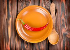Free Pepper In A Plate And Spoon Royalty Free Stock Images - 26467709