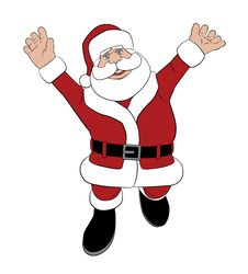 Free Santa Jumping For Joy Stock Photos - 26467953