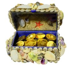 Free Jewelry Box Decorated  Seashells Stock Image - 26468381