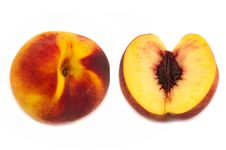 Free Peaches Isolated Royalty Free Stock Photography - 26469297