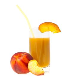 Free Peach Juice Stock Photography - 26469572