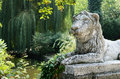 Free Lion Sculpture In Park Area Stock Images - 26470924