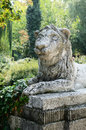 Free Lion Sculpture In Park Area Stock Photography - 26470972