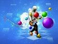 Free Dancing Guitar Player Royalty Free Stock Images - 26473839