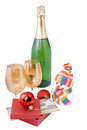 Free Champagne And Gifts Isolated Royalty Free Stock Images - 26476239