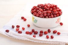 Free Red Cornel In Old-styled Bowl Royalty Free Stock Images - 26470699