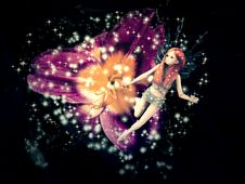 Free Magic Fairy Flower Royalty Free Stock Image - 26473876