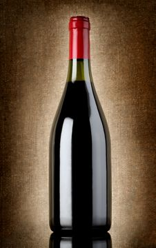 Free Bottle Of Wine On The Old Background Royalty Free Stock Image - 26476956