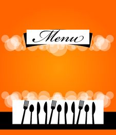 Menu Template Design Stock Photo