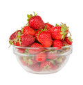 Free Strawberries In The Deep Transparent Plate Royalty Free Stock Photos - 26485378