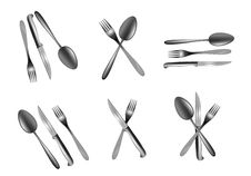 Spoon,knife And Fork Royalty Free Stock Photography