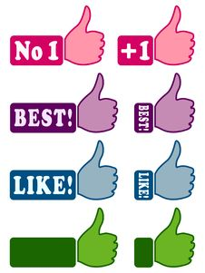 Free Web Icons With Thumb Up 1 Royalty Free Stock Photo - 26484015