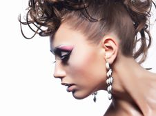 Free Beauty Fashion Style. Girl - Curly Coiffure Stock Images - 26484734