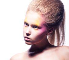 Free Expressive European Girl - Advertising Makeup Royalty Free Stock Photography - 26484747