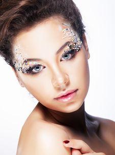 Free Beauty Girl - Brignt Brilliant Vibrant Makeup Stock Photos - 26484793