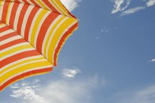 Free Colorful Striped Sun Hat Beach, Sun, Blue Sky, Summer Holidays Stock Photos - 26488293