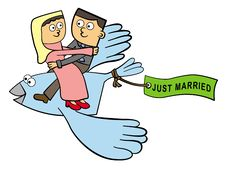 Free Happily Married And Flying Stock Image - 26491421