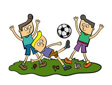 Free Soccer Kids Royalty Free Stock Images - 26491729