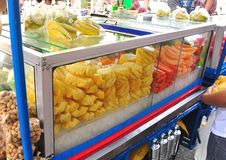 Free Fresh Fruit Shop On Motorcycle Stock Image - 26492571