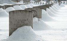 Free War Cemetery In Snow Royalty Free Stock Images - 26495079