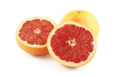 Free Grapefruit And Two Halves Royalty Free Stock Images - 26496219