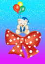 Free Teddy With Balloons Royalty Free Stock Photos - 2650218