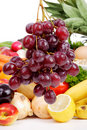 Free Grapes With Vegetables And Fruits Royalty Free Stock Photo - 2653245