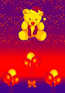 Free Teddy With Balloons 2 Stock Images - 2650154