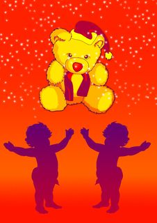 Free Baby With Teddy Royalty Free Stock Image - 2650156