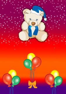 Free Teddy With Balloons 3 Royalty Free Stock Images - 2650159